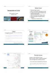 Introduction to Linux About Linux Linux Linux 䈁 6551 - iVEC