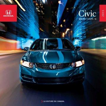 BERLINE / COUPÉ / Si La vOItURE dU CaNada. - Honda Canada