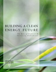 Building a Clean Energy Future - Sustainable Endowments Institute