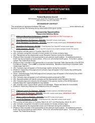AFCEA Belvoir Industry Days 2011 SPONSORSHIP ...