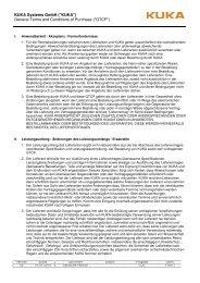 Einkaufsbedingungen - deutsch (PDF) - KUKA Systems