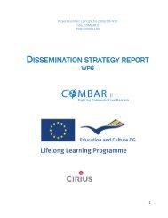 Dissemination strategy report - combar2.eu