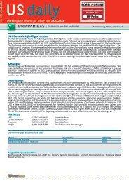 Die kompakte Analyse für Trader vom 23.07.2013 US-Börsen mit ...