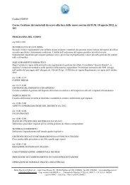 Gestione dei materiali da scavo - Ordine dei Geologi della Lombardia