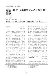 特集 記事 - 日本自然災害学会