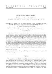 pełny tekst - Instytut Uprawy Nawożenia i Gleboznawstwa w Puławach