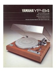 yamaha yp-b4 - Hi Fi Vintage di Mario