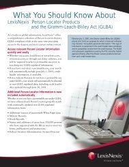 GLBA PDF - LexisNexis