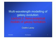 Lecture 2: Semi-analytical models of galaxy formation