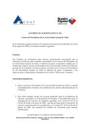 ACUERDO DE ACREDITACIÓN N° 221 Carrera de Periodismo de ...