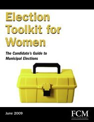 Election Toolkit for Women: The Candidate's Guide to - FCM