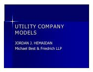 Service Provider Stakeholders - Wisconsin Public Utility Institute