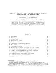LEVEL VIA HECKE ALGEBRA ISOMORPHISMS - Math Department ...