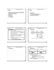 Inhalt I Einführung in die Programmierungstechnik II Abstrakte ...