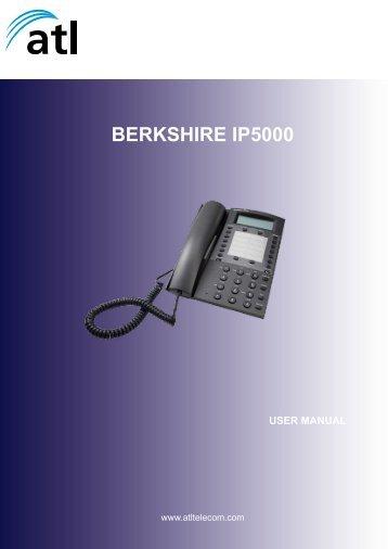 Download the ATL Berkshire IP5000 Telephone ... - Cordless Phones