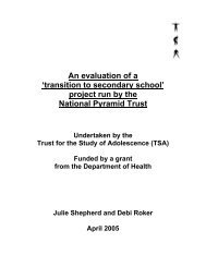 An evaluation of a 'transition to secondary school' project run by the ...