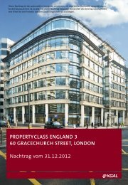 KGAL PropertyClass England 3 - 1. Nachtrag 31-12-2012