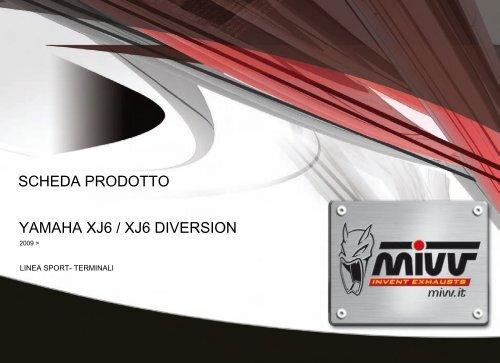 YAMAHA XJ6 / XJ6 DIVERSION SCHEDA PRODOTTO - Mivv