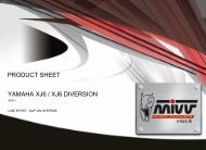 YAMAHA XJ6 / XJ6 DIVERSION PRODUCT SHEET - Mivv