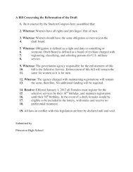 Princeton Legislation - John Paul II HS