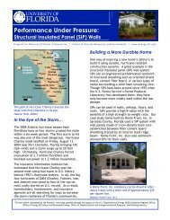Performance Under Pressure: - Florida Alliance for Safe Homes