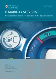 E-MOBILITY SERVICES - Cambridge Service Alliance