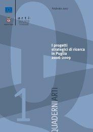 I progetti strategici di ricerca in Puglia 2006-2009 - ARTI Puglia