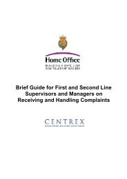 Brief Guide for Supervisors - Nottinghamshire Police