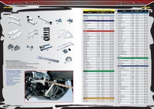 Height adjusters Height adjusters - MotoXSPEED