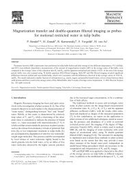 Magnetization transfer and double-quantum filtered ... - ResearchGate