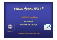 News from ECT* - NuPECC