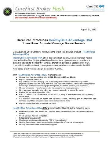 Major Medical Claim Form - CareFirst