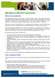 Manage An Effective Work Team (PDF – 129kb) - AJML Group