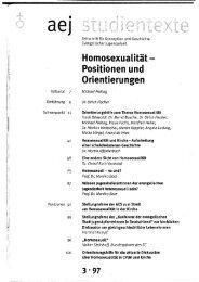 Schwerpunkt - Arbeitsgemeinschaft der Evangelischen Jugend