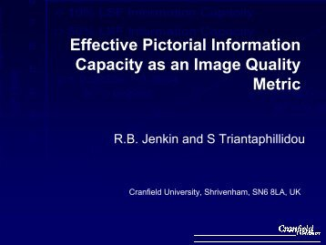 Effective Pictorial Information Capacity as an Image Quality Metric