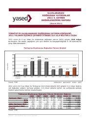uluslararası doğrudan yatırımlar 2011 3. çeyrek değerlendirme raporu