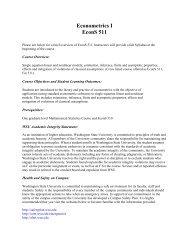 Econometrics I EconS 511 - Washington State University