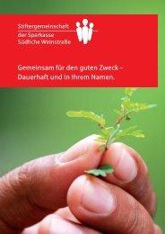 Broschüre der Stiftergemeinschaft - Sparkasse Südliche Weinstraße