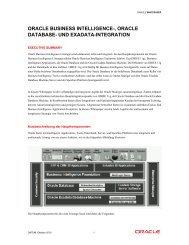 Oracle BI, Database & Exadata Integration - Engineered to Innovate
