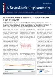 2. Restrukturierungsbarometer - Finance Magazin