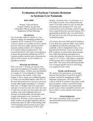 Evaluation of Soybean Varieties Resistant to Soybean Cyst Nematode