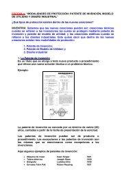 """""""MODALIDADES DE PROTECCIÓN: PATENTE DE INVENCIÓN ..."""