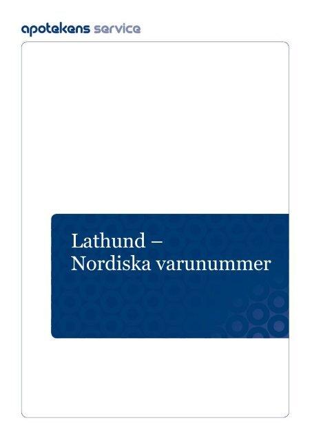 Lathund – Nordiska varunummer - LIF