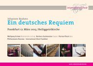 Postkarte - International Choir Frankfurt