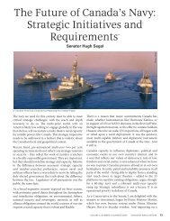 The Future Of Canada's Navy: Strategic Initiatives And Requirements