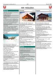NW Nidwalden - gruppen-unterkuenfte