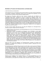 Merkblatt zur Promotion für Doktorandinnen und Doktoranden in der ...