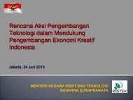 Inpres Nomor 6 Tahun 2009 - Indonesia Kreatif