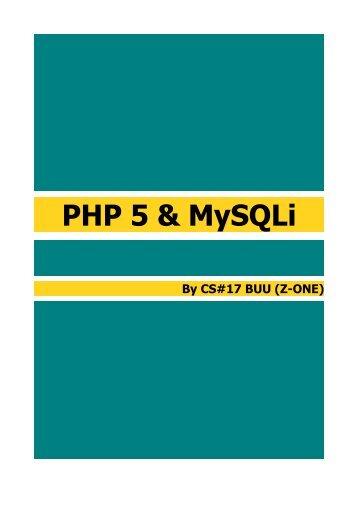 PHP 5 & MySQLi