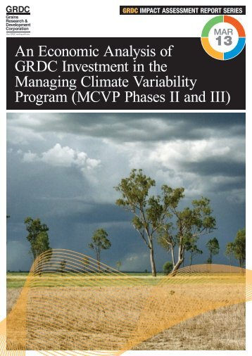 MCVP Phases II and III - Grains Research & Development Corporation